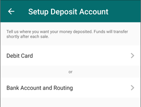 Set up Deposit icon