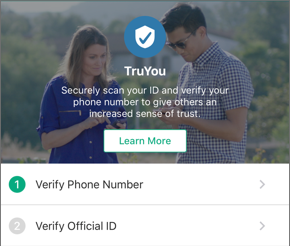 Verify phone number button