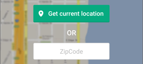 Illustration of the Get Location button in the app