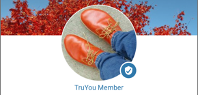 Illustration of the True You badge in the app
