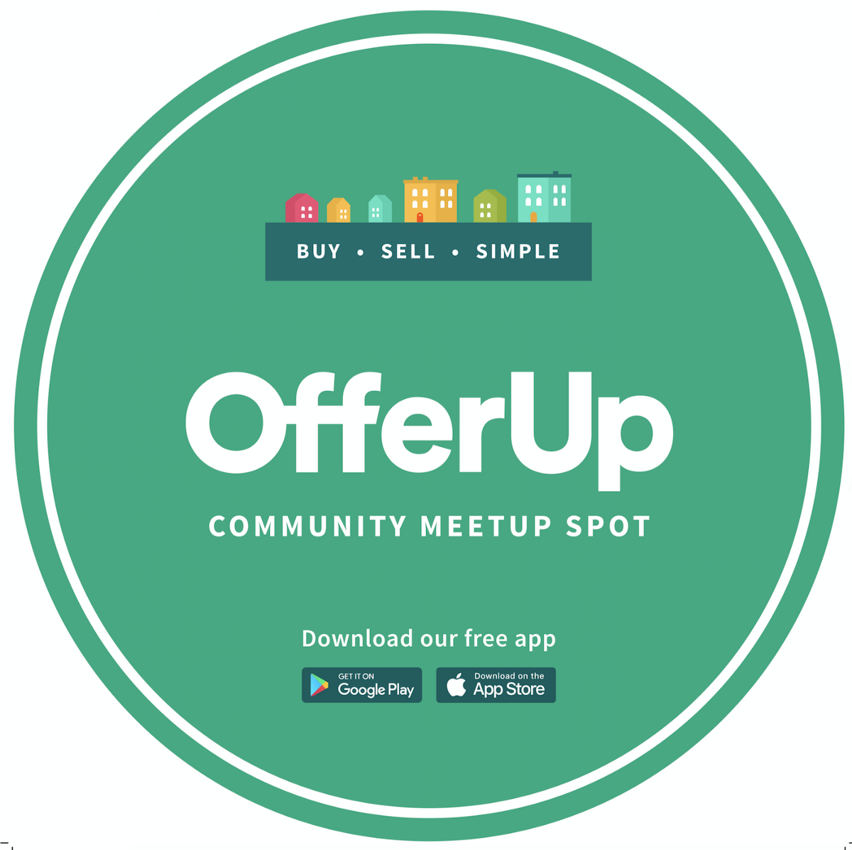 Community Meetup sign